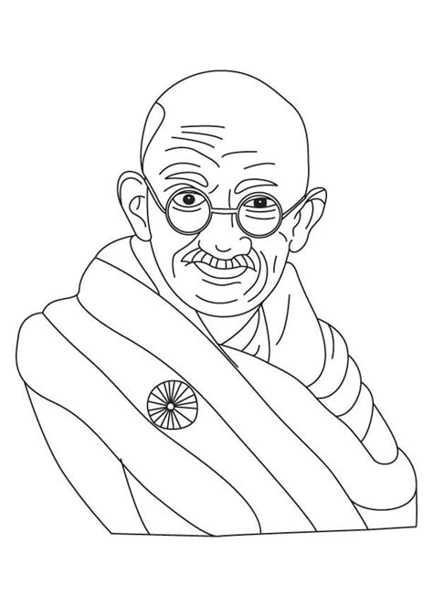 gandhi jayanti coloring page mystery of history 4