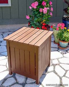 Diy, Outdoor, Side, Table, With, Cooler, Free, Plans