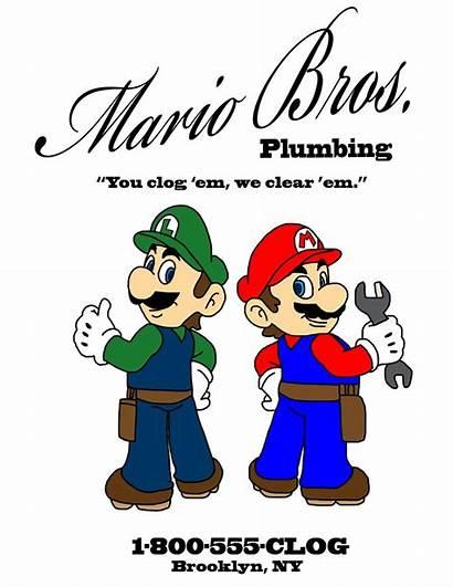 Mario Plumber Plumbing Bros Super Plumbers Clipart