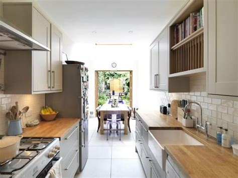 kitchen design for narrow room great exle of how to best utilise the space you in 9325