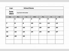 School Calendar 2019 2020 & Academic Calendar Templates