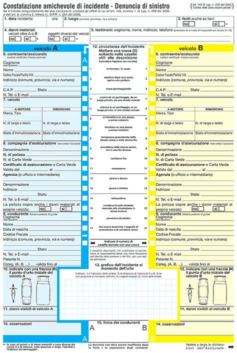 Cattolica Assicurazioni Ufficio Sinistri Numero Verde - modulo constatazione garattini assicurazioni lecco