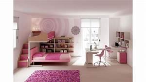 Lit Superposé Ado : chambre enfant avec lits superpos s fille moretti ~ Farleysfitness.com Idées de Décoration