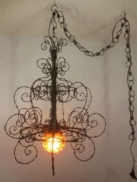 diy wire chandelier barbed wire spiriallian chandelier barbed wire wire