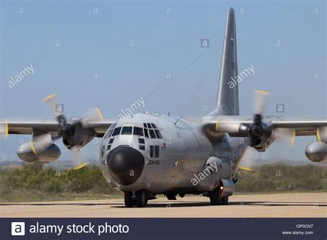 Belgian Air Force C-130 Hercules cargo plane taxiing after ...