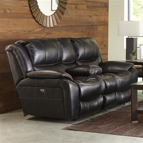 recliner with cup holder power reclining loveseat with usb port cup holders and