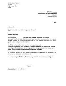 pension d invalidite montant letter of application modele de lettre de contestation du travail par l employeur