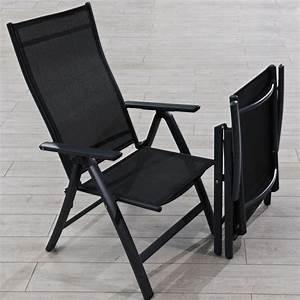 Un Dossier De Chaise : chaise de jardin multipositions dossier haut achat ~ Premium-room.com Idées de Décoration