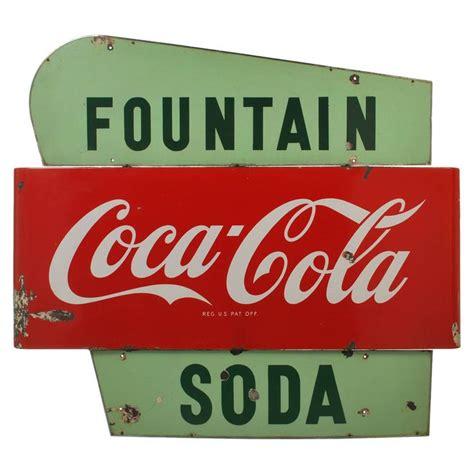 Vintage Coca-Cola Soda Fountain Porcelain Sign   Porcelain ...