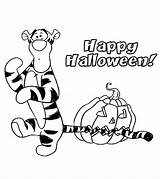 Coloring Tigger Printable Halloween sketch template