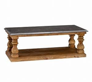 sutton coffee table pottery barn With stone and wood coffee table
