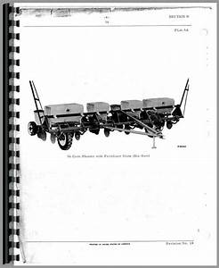 International Harvester 56 Planter Parts Manual