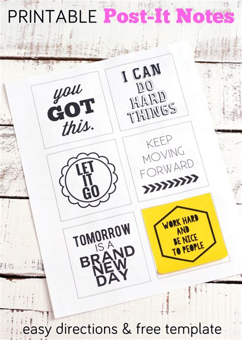 print on post it notes template post it note printables you got this my s suitcase packed with creativity
