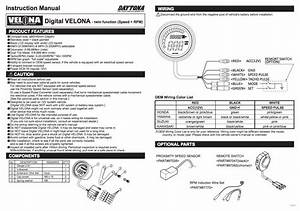 Daytona Digital Speedo With Tachometer Velona