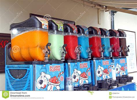 slush puppie multi coloured drinks machine editorial stock image image