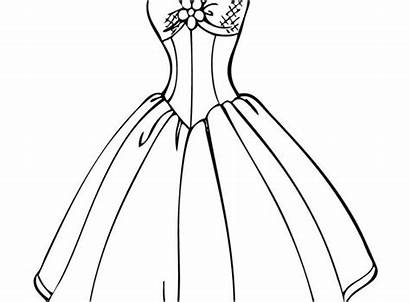 Coloring Pages Cinderella Dresses Printable Drawing Sheets