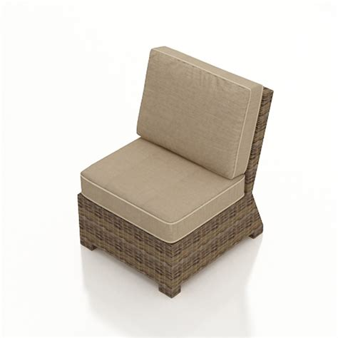 forever patio cypress wicker sectional middle chair replacement cushion wickercentral