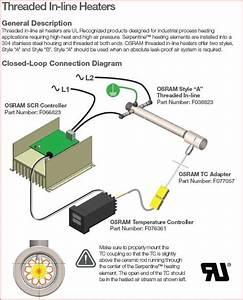 077057 Tutco Sureheat Threaded Inline Heater 1  2 U0026quot Npt