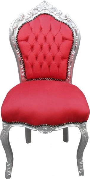 Esszimmer Le Silber by Casa Padrino Barock Esszimmer Stuhl Rot Silber Ohne