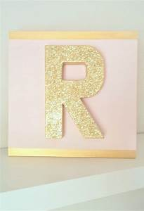 28 gold glitter block paper mache letter on 12 x 12 With gold cardboard letters