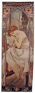 Mucha Nights Rest tapestry - Belgian Art Nouveau tapestries