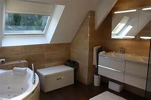 salle de bains sous combles home pinterest With salle de bain sous combles