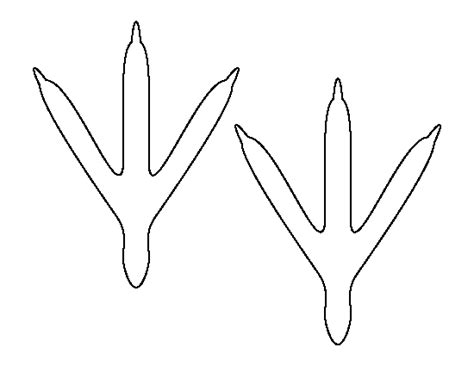 Turkey Legs And Feet Template To Cut by Printable Bird Feet Template