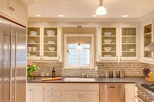 pendant light over kitchen sink Kitchen Transitional with