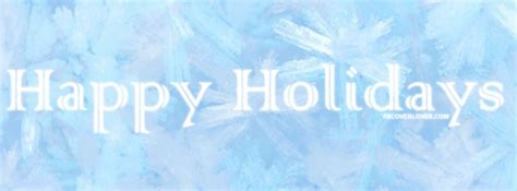 happy holidays painted snowflakes facebook cover