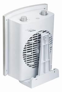 Teplovzdušný ventilátor na stěnu