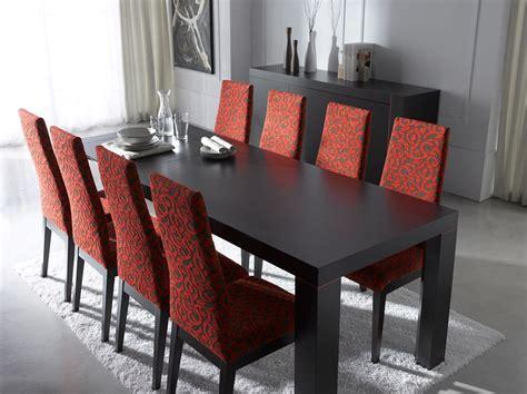 extendable rectangular  wood fabric seats modern