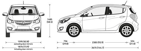 vauxhall viva sizes  dimensions guide carwow
