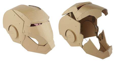 ironman transformers mask hydraulic cardboard youtube