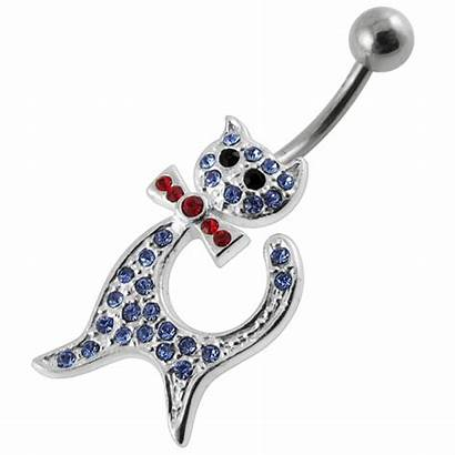 Moving Belly Shaped Jeweled Non Cat Ring