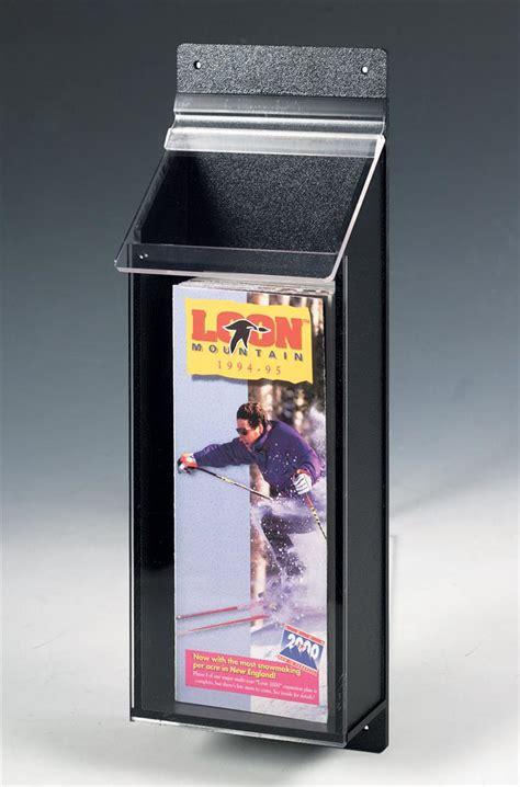 outdoor pamphlet holder black literature display box