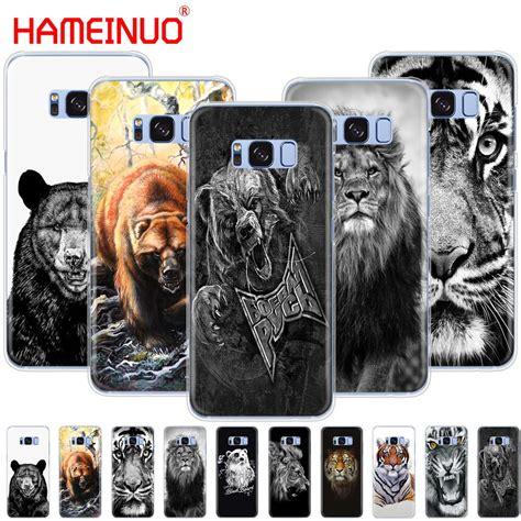 Hameinuo Russian Bear Tiger Lion Cell Phone Case Cover For