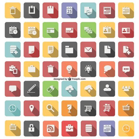 flat icon set vector free download