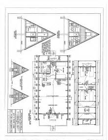 A Frame Cabin Floor Plans Blueprint