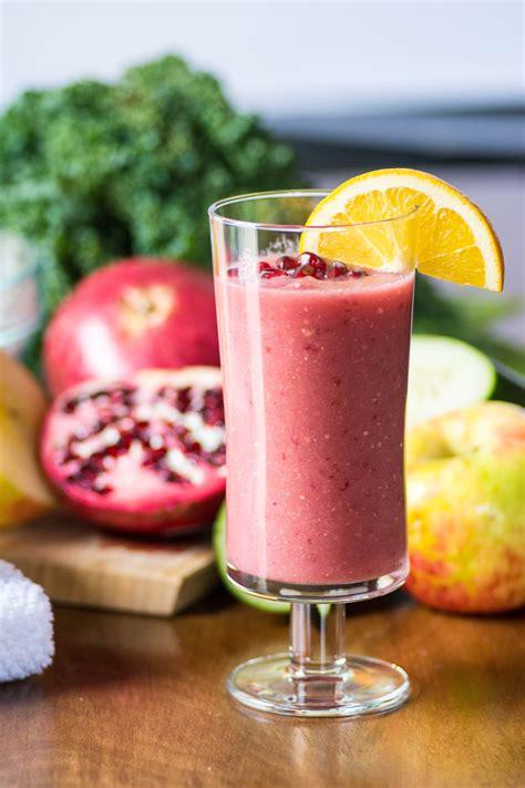 apple juice pomegranate orange juicing bang