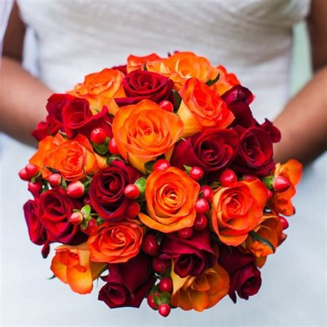 red wedding bouquets red wedding flowers red earth flowers