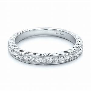 engraved wedding band with matching engagement ring kirk With engraved wedding rings