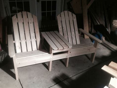 double adirondack chair  table plans woodworking