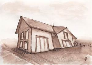 Haus Zeichnen 3d : aquarell und extreme perspektive ~ Watch28wear.com Haus und Dekorationen