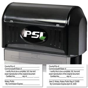 psi pre inked notary stamps notary supplies