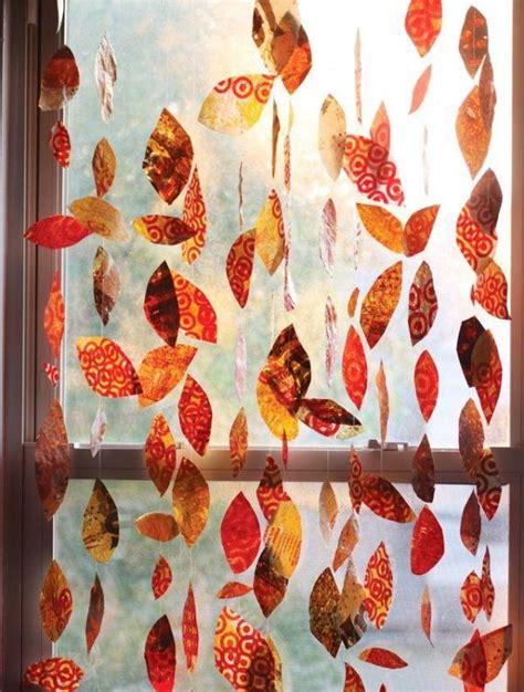 Herbstlaub Basteln Blaetter Deko Aus Papier by Herbstgirlande F 252 R Die Eingangst 252 R Basteln Mit Buntem
