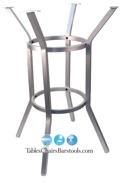 bar height commercial brushed aluminum umbrella table base