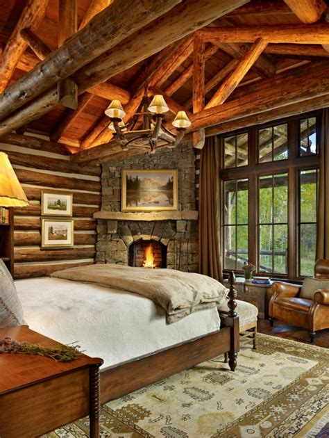 charming rustic bedroom interior designs    warm   cold winter nights