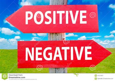 Positive Or Negative Stock Photo  Image 41274207