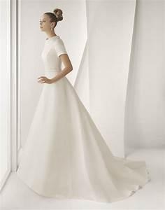 modest ivory silk mikado rosa clara wedding dress with With mikado silk wedding dress