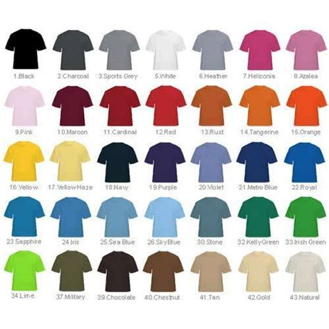 shirt colors colored t shirts view specifications details of t